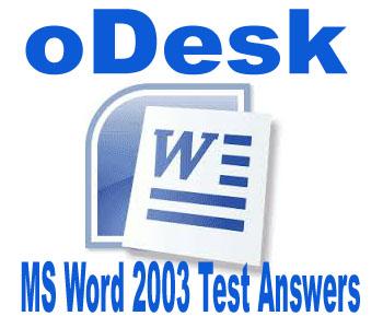 odesk microsoft word 2003 test answers tutorialspointbd